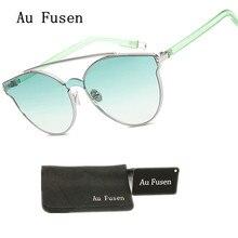 AuFusen 2017 New Brand Designer Fashion Sunglasses Women Cat Eye Vintage Glasses for Women Summer Cute Sun Glasses Mode Eyewear