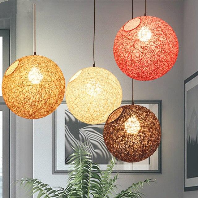 Moderne Rieten Bal Hanglamp Bertjan Pot Creatieve Opknoping