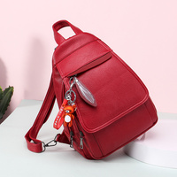 Women PU Leather Backpack Fashion Crossbody Ladies Teenager School Purse Student Bags Casual Travel Bag Solid Backpack Girls