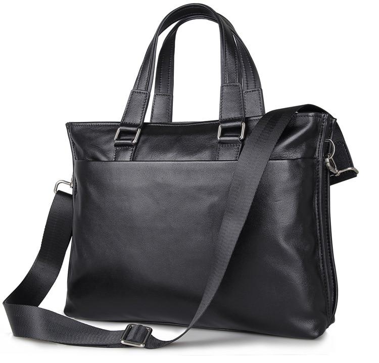 J.M.D 100% Genuine Leather Men's Briefcase Handbag Messenger Bag For Business Men 7328A