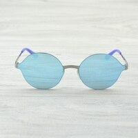 2018 Fashion Italian Eyewear Brand Designer Round Sunglasses Men Women Anti UV Metal Frame Retro Sun Glasses Mirror Gafas De Sol
