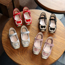 Spring autumn Children girl PU Bling crystal shoes Girls Shoes Flat casual princess  Shoes 3colors 26 09dc97c2a138