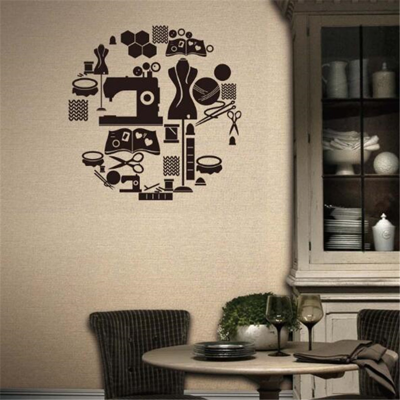 Wall Decor Shops: IDFIAF Tailor's Shop Vinyl Wall Decal Clothes Store Window