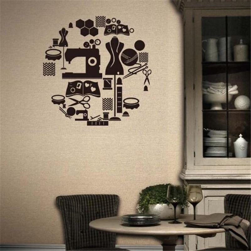 Aliexpress Com Buy Idfiaf Tailor S Shop Vinyl Wall Decal
