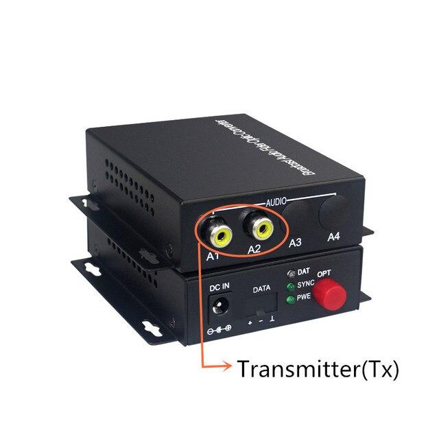 Fibra Transceiver Trasmissione Audio 2 canali audio converter ottico monomodale singola fibra 20 KM