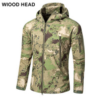 Lurker Shark Skin Soft Shell V5 Military Tactical Jacket Men Waterproof Windproof Warm Coat Camouflage Hooded