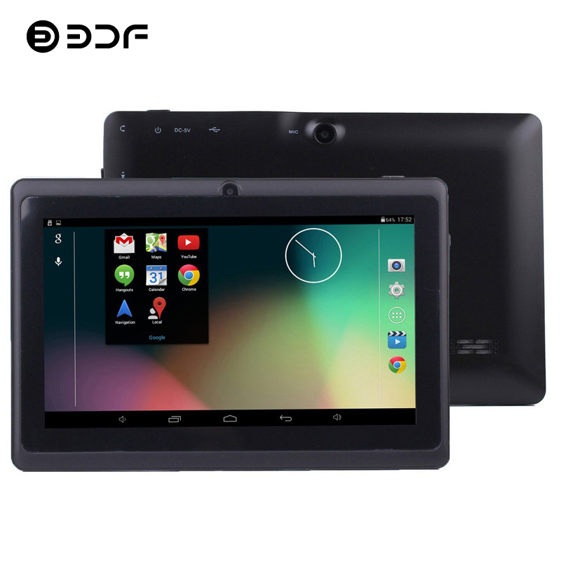 BDF KIDS Tablet 7 Inch Tablet Pc Android 4.4 Quad Core 512MB+8GB 1024*600 LCD Google Play Tab Quad Core Bluetooth WiFi Tablets 7