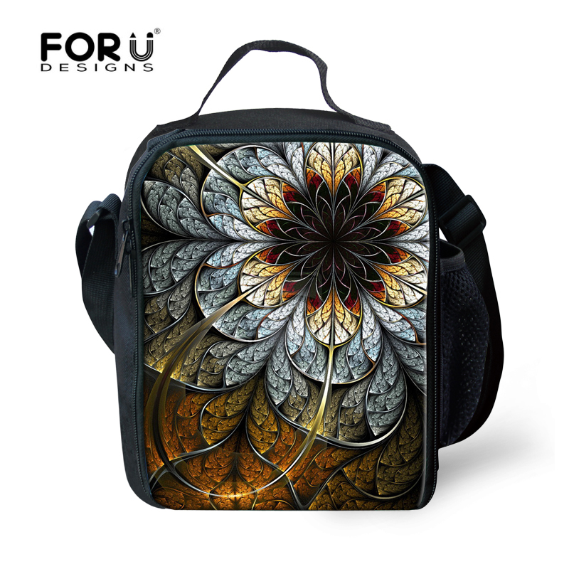 Vintage Women Picnic Insulated Bag Flower Printed Lunch Box For Girls Kids Travel Leisure Food Lancheira Students Bolsa Termica