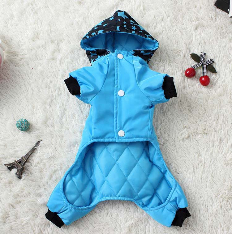 Waterproof Fashion Pet Clothes Large pocket Thick Pet Jumpsuit Coat With Hooded Windproof Winter Outdoor Cotton Pet Apparel XS-XXL7