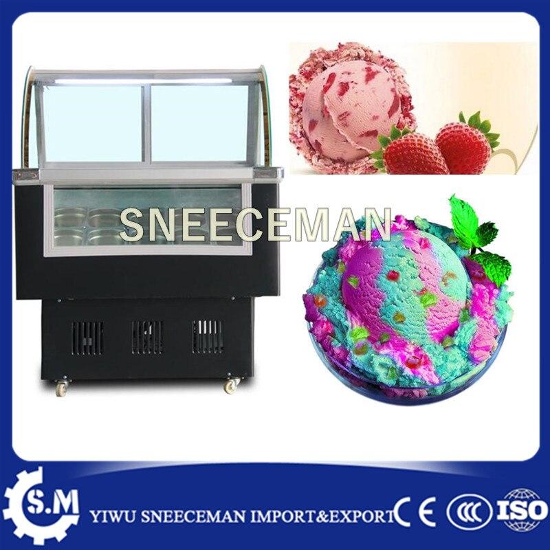 Ice Cream Display Cabinet With Back Sliding Door