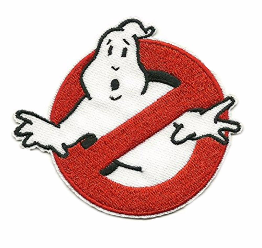 GhostBusters No Ghost Logo Broderad Iron On Applique Patch