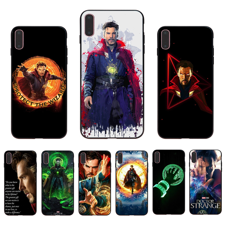 IMIDO Marvel Avengers League Doctor Strange Soft phone case for iphone X Xs Xr Xsmax 7 8 6 5 6s/6/7/8plus 5S 6S SE cover shell