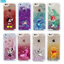 Mickey quicksand case for Samsung Galaxy Note 9 8 S9 Plus case liquid glitter cover for iphone 5 5S SE 6 6s 7 8 plus X XR XS MAX