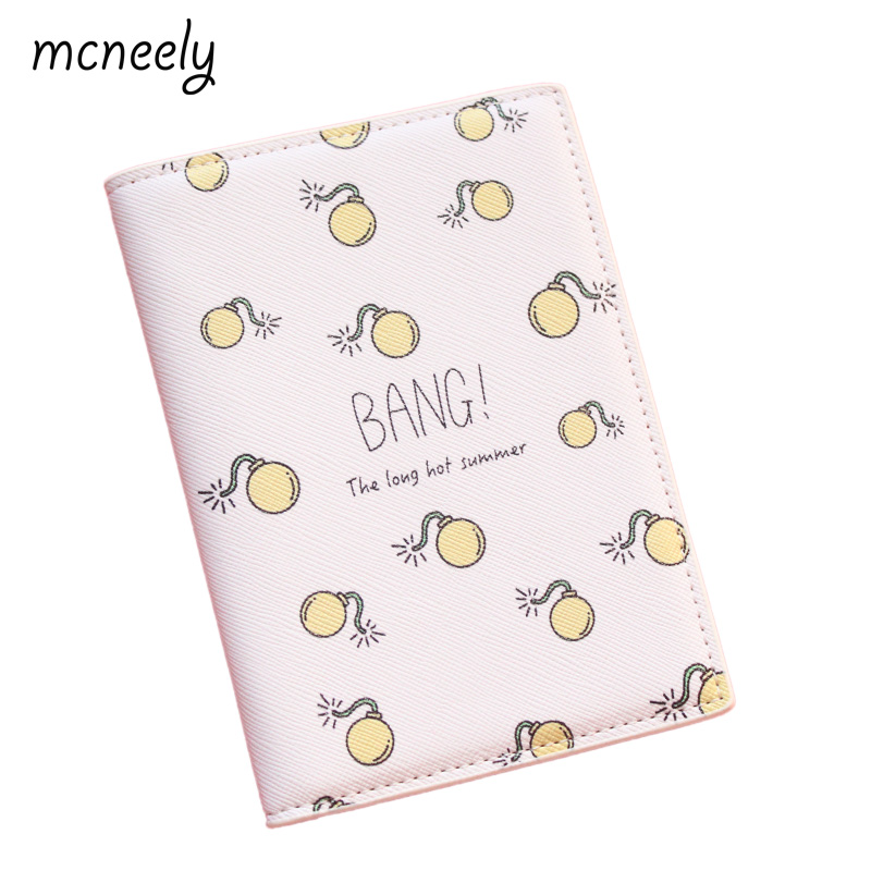 BANG!A Bomb exploded!Interesting and creative Travel Passport Holder PU Leather Passport Cover Case Capa Para Passaporte 14*10CM