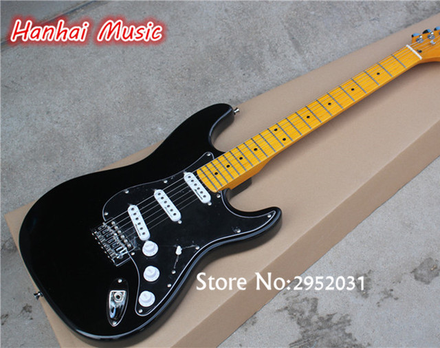 Hot Sale Custom Electric Guitar Black Body And Pickguard Vintage