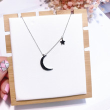 2018 Hot Sale Korean Style Temperament Women Accessories Rhinestone Moon Star Pendant Koyle Link Chain Chokers Necklaces Jewelry