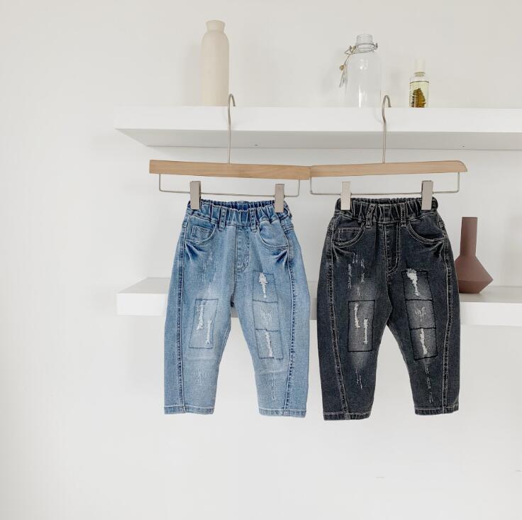 2019 new arrival girls  boys  denim pants autumn  fashion kids jean pants 1-7t HU579(China)