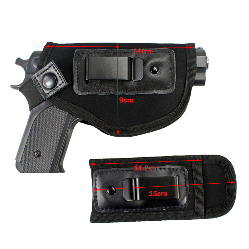 Image 3 - Concealed Carry Gun Holster Bag Universal Neoprene IWB Holster With Extra Mag Holster Pouch For All Sizes Handguns Hunting-in Holsters from Sports & Entertainment