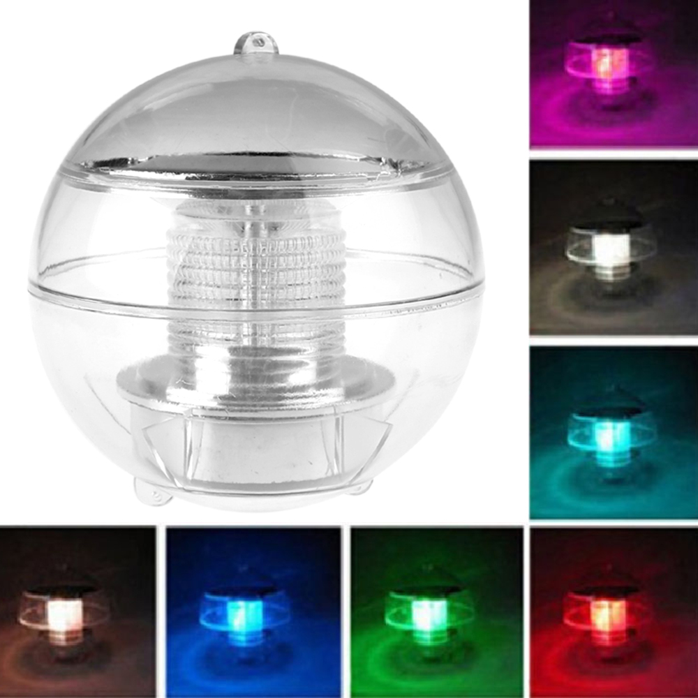 Solar Power LED Floating Night Light Ball Waterproof Multi Color ...