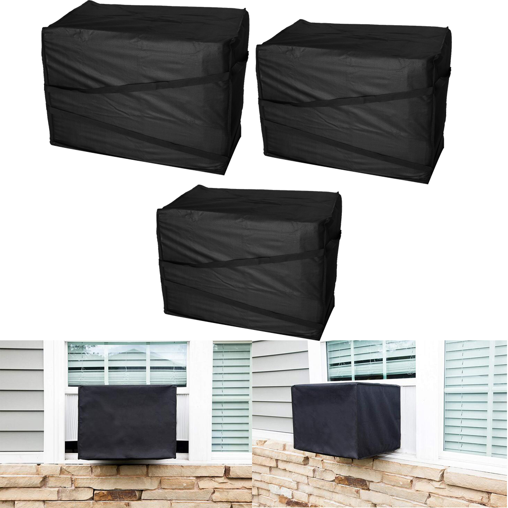 AC Air Conditioner Outdoor Window Air Conditioning Cover with Elastic Straps Dust-proof Cover