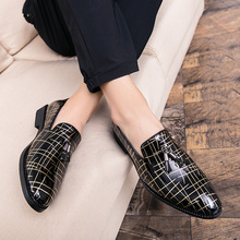 цены luxury brand men pointed toe dress shoes famous tassel italian footwear male formal Business flats fashion oxford shoes for men