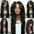 8A Virgin Brazilian150 Density Full Lace Wig With Baby Hair Unprocessed Glueless Full Lace Wig Human Hair Wavy Lace Front Wigs