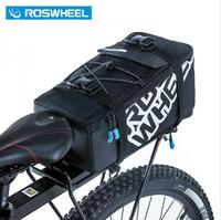 ROSWHEEL 5L Bicycle Carrier Bag Rack Trunk Bike Luggage Back Seat Pannier Outdoor Cycling Storage Handbag
