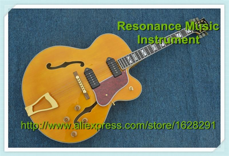 En gros et Au Détail G L5 Guitare Jazz Corps Creux Guitare Électrique En Stock Pour Vente