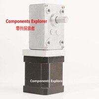 NEMA17 Turbine Worm Engrenagem Stepper motor Relação 32: 1