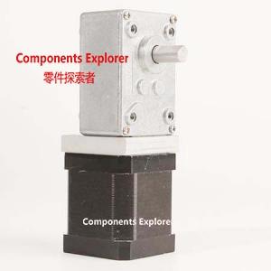 NEMA17 Turbine Worm Gear Stepper motor Ratio 32:1NEMA17 Turbine Worm Gear Stepper motor Ratio 32:1
