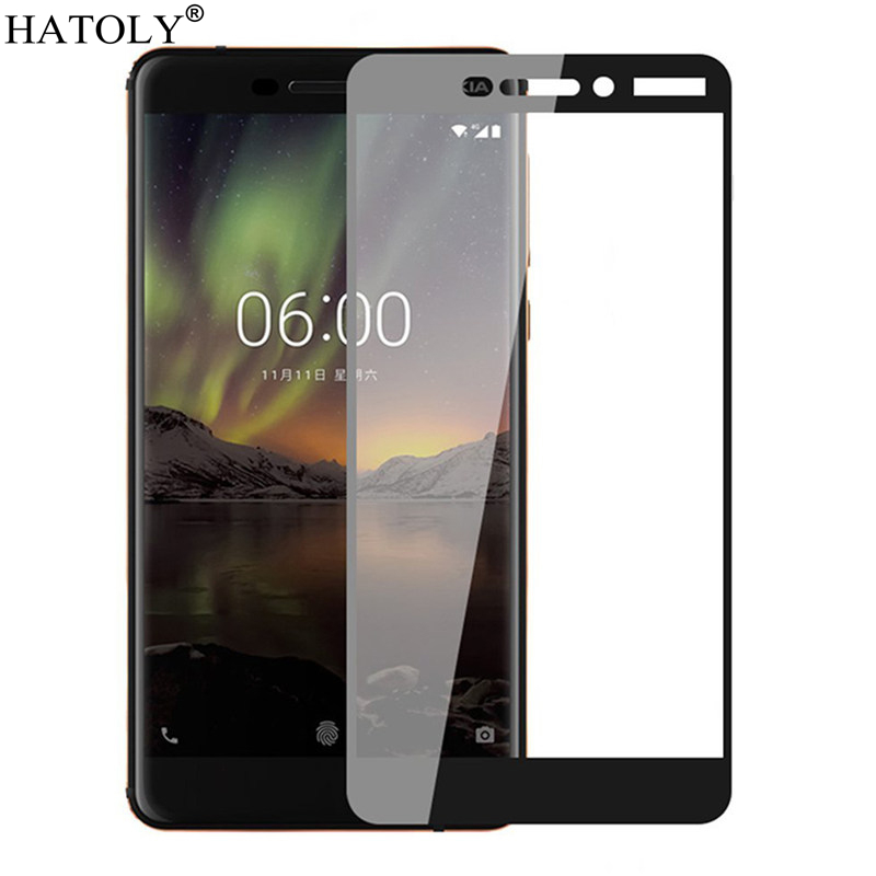 2PCS Tempered Glass For Nokia 6.1 Screen Protector For Nokia 6.1 (2018) Full Cover For Nokia 6.1 TA-1043 3D Curved Edge Film
