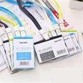 Plástico Horizontal Banco Credit Card Holders 8 Color Mujer Hombre Correa para el cuello tarjeta de Bus de Tarjeta sostenedores de la IDENTIFICACIÓN de Identidad porta-tarjetas de cordón OEM