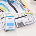 Plastic Horizontal Bank Credit Card Holders 8 Color Women Men Neck Strap Card Bus ID holders Identity badge holder lanyard OEM