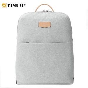 Plecak na laptopa YINUO plecak na laptopa 13 cali wielofunkcyjny wodoodporny plecak z zabezpieczeniem przeciw kradzieży torby szkolne o dużej pojemności