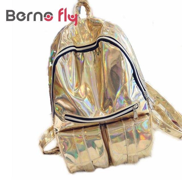47709c96169f2 2018 Moda Holograficzny Hologram Plecak Do Szkoły Uczeń Dziewczyny Laser  Kolor Srebrny Torba 3 Kolory kobiety