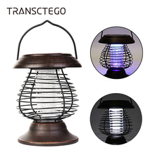 Solar Mosquito Killer Lamp Bug Zapper Night UV Light Hanging Portable Electric Outdoors Garden Camp Insect Repellent