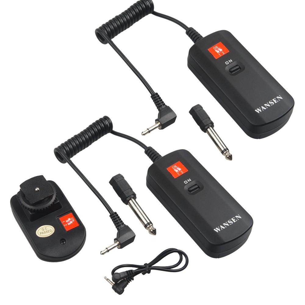Hot-New-Universal-WanSen-DC-04-4-Channels-Wireless-Radio-Studio-1transmitter-2receivers-Flash-Trigger-Set