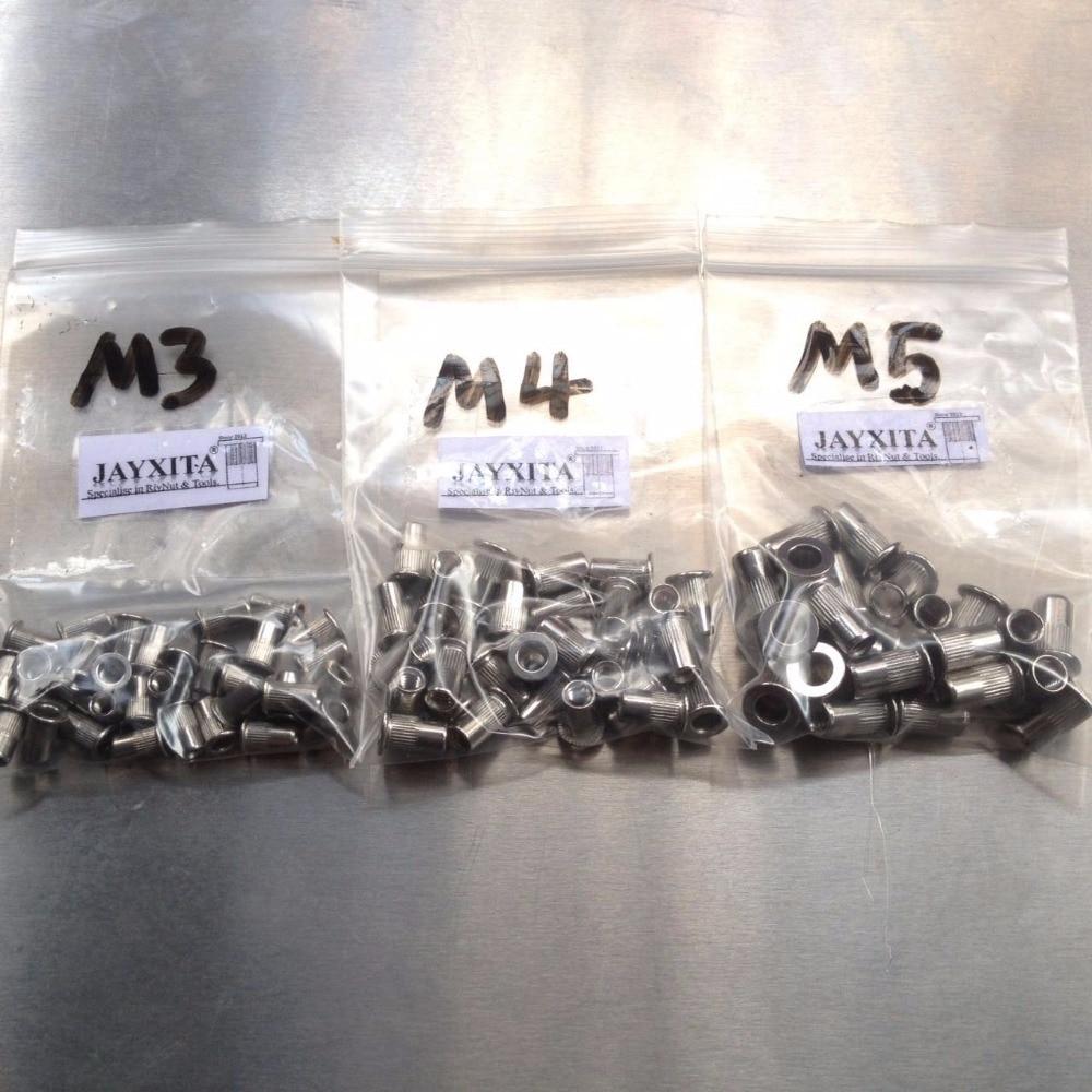 100 stücke edelstahl nietmutter M4 M5 M6 M8 edelstahl gewindebuchse sortiment kit inox nieten mutter in 100 stücke edelstahl nietmutter M4 M5 M6 M8