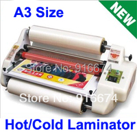 Fast Free Shipping NEW HOT A3 Hot Cold Roll Laminator Pouch Laminating Machine 13 Four Roller