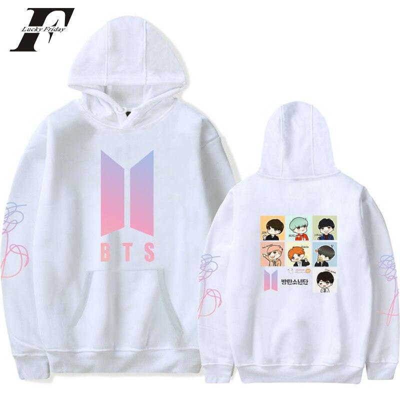 LUCKYFRIDAYF 2018 BTS LOVE YOURSELF Women Hoodies Sweatshirts K pop Bangtan New Album DNA Hoodie Sweatshirt