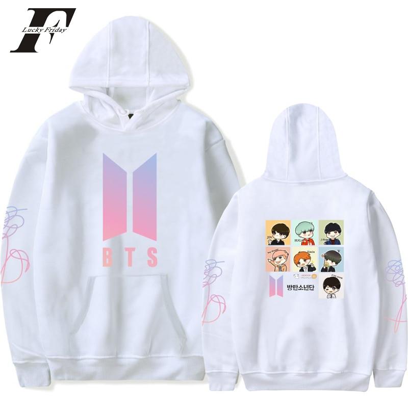 Luckyfridayf BTS 2018 Love yourself mujeres hoodies sudaderas k-pop bangtan  nuevo álbum ADN Sudadera con capucha Kpop hip-hop d17577a2123
