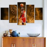 Top HD Prints Wall Artwort Legend Poster Basketball Famous Star Michael Jordan Chicago Bulls Fashion Gifts