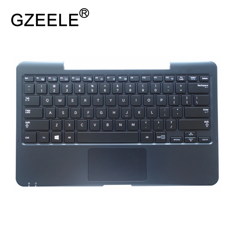 все цены на GZEELE NEW US Laptop Palmrest Keyboard For SAMSUNG XE700T1C XE500T1C 500T1C English C shell Topcase cover Replace case touchpad