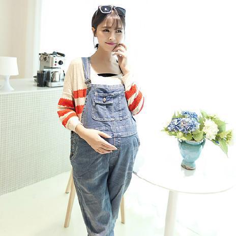 Woman Good Cargo Maternity Overalls Long Length Leg
