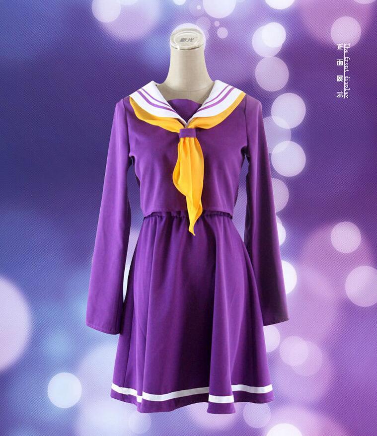 Anime NO GAME NO LIFE Shiro School Uniforms Cosplay Costume Dress Clothes