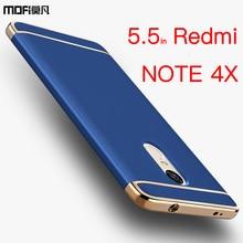 Xiaomi Redmi Note 4x чехол Xiaomi Redmi Note 4x чехол бампер Mofi 3 в 1 люкс сзади жесткий аксессуары Redmi Note 4x Coque Bling