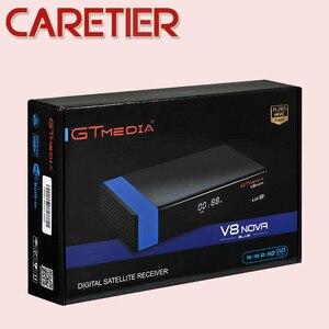 Image 2 - 2019 GTmedia V8 Nova Blue DVB S2 HD Satellite receiver Support H.265 TV Ccam Newcamd powervu Biss Built WiFi Set Top Box New