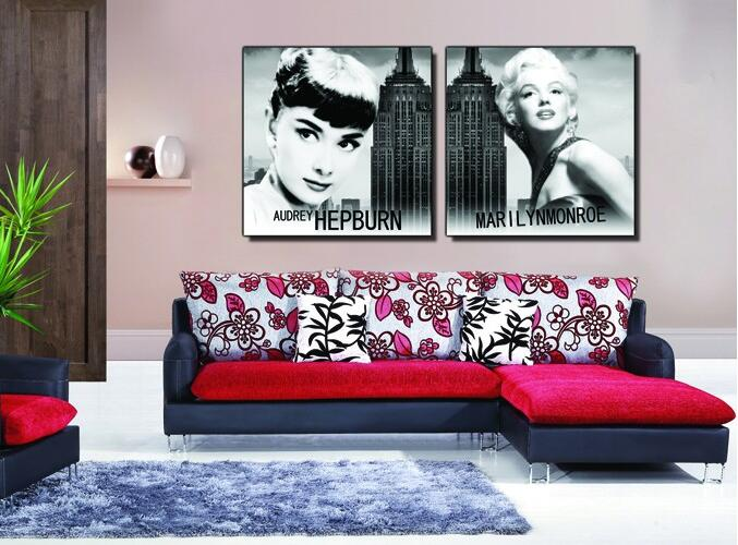 Audrey Hepburn Canvas Wall Art - Elitflat