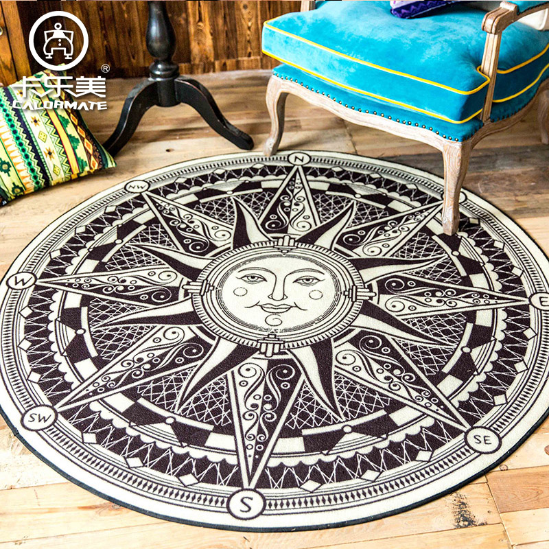 achetez en gros grand tapis rond en ligne des grossistes grand tapis rond chinois aliexpress. Black Bedroom Furniture Sets. Home Design Ideas