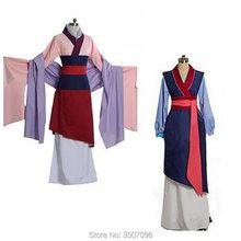 Hua Mulan Vestito Blu del Vestito Della Principessa Dress Movie Cosplay del  Costume Femminile di Ragazze e8b8e6c8162